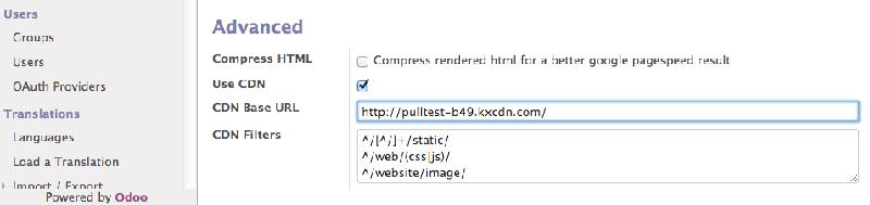 Odoo 13开发者文档:通过 CDN 进行部署