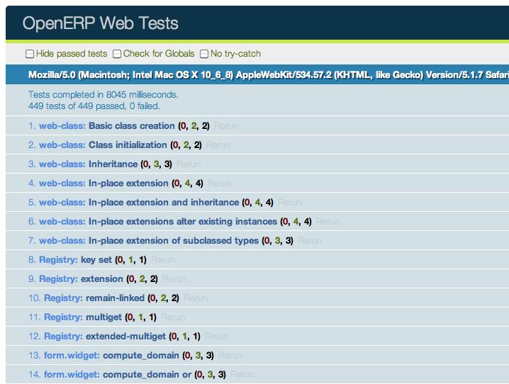 Example code :