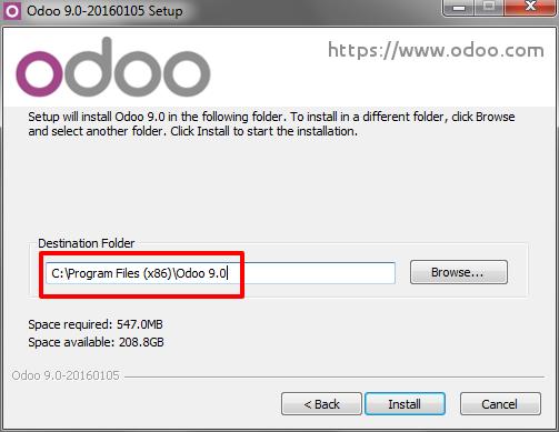 odoo 9 windows