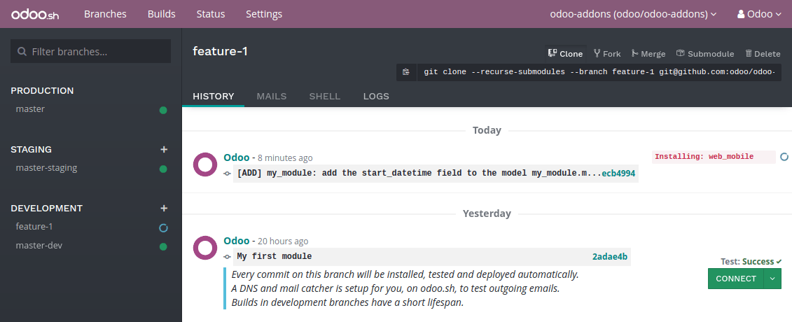 Your first module — Odoo 11 0 documentation