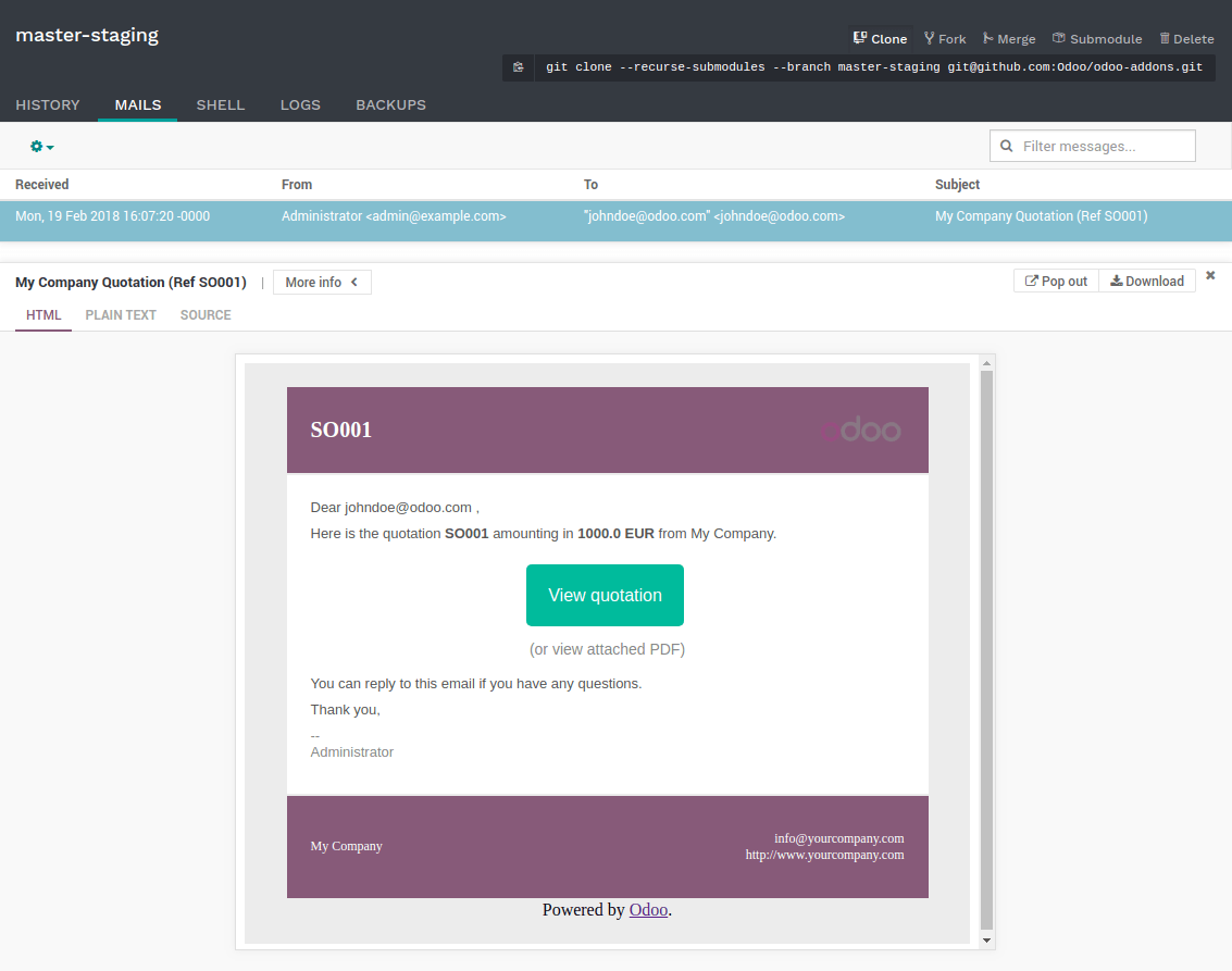 Branches — Odoo 11 0 documentation