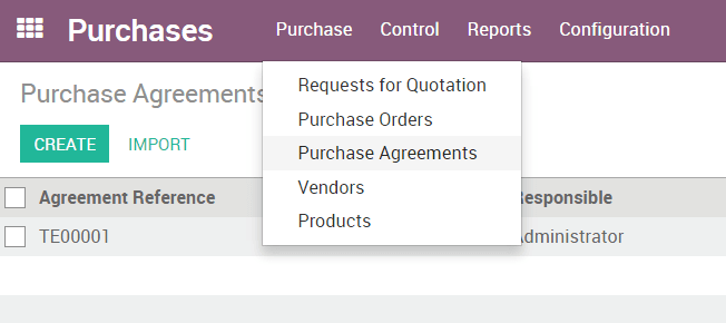 How To Manage Blanket Orders Odoo 110 Documentation