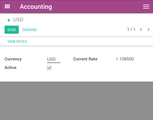 Record exchange rates at payments — Odoo 12 0 documentation