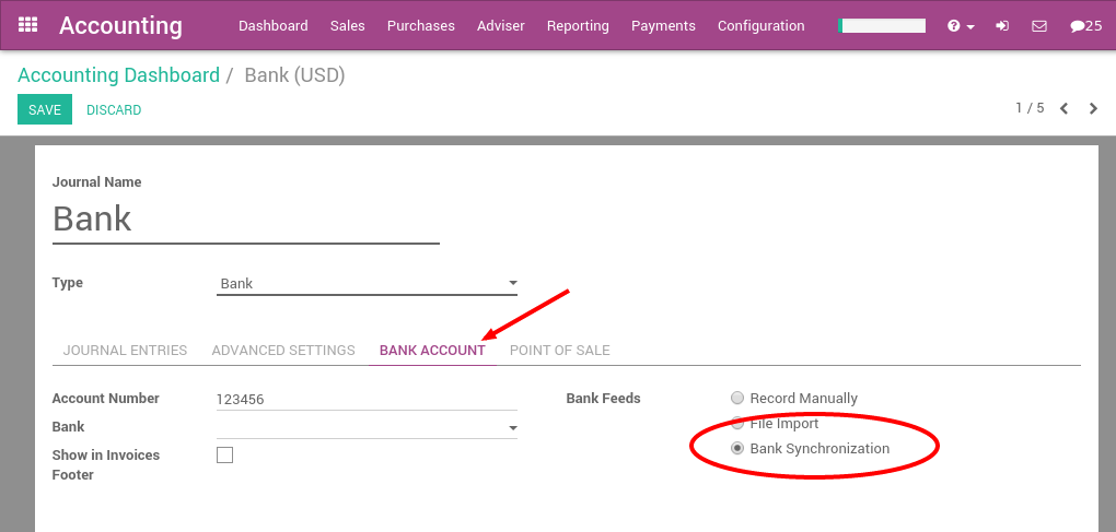 How to synchronize Odoo with your bank? — Odoo 12 0