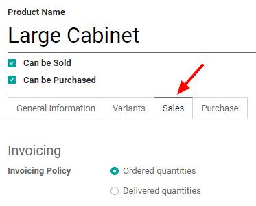 Làm cách nào để thay đổi chính sách lập hóa đơn của bạn trên một mẫu sản phẩm trên Bán hàng Odoo?