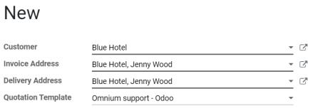 Chọn một mẫu cụ thể trên Bán hàng Odoo