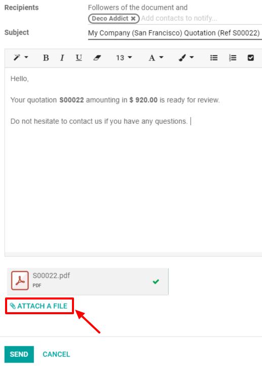 Điều khoản & điều kiện chung dưới dạng tệp đính kèm trong email của bạn