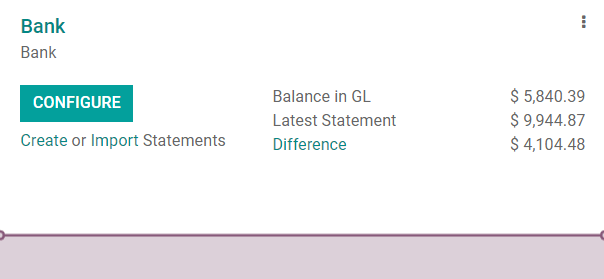 Import a bank statement file in Odoo Accounting