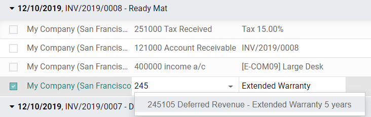 Modification of a posted journal item's account in Odoo Accounting