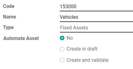 在Odoo Accounting中配置资产帐户