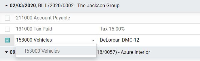 在Odoo Accounting中修改已过帐日记帐项目的帐户