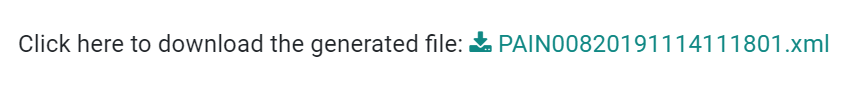 为Odoo Accounting中的SDD付款生成XML文件