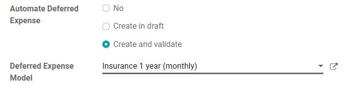 自动执行Odoo Accounting中帐户的递延费用