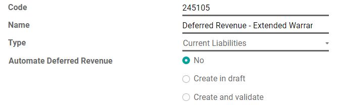 在Odoo记帐中配置递延收入帐户