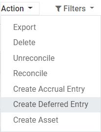 从Odoo Accounting中的日记帐项目创建延期分录