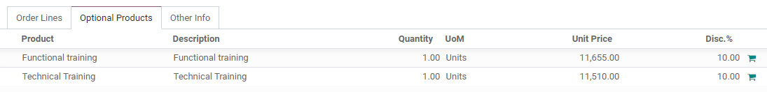 How to add optional products to your quotations on Odoo Sales