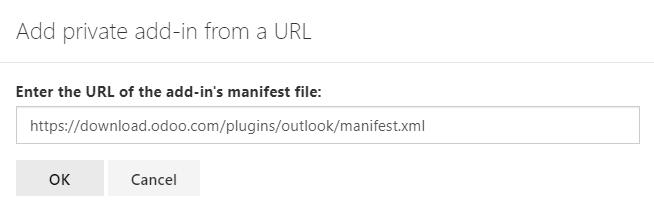 通过提供清单文件的URL在Outlook中获取自定义加载项