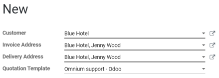 Select a specific template on Odoo Sales