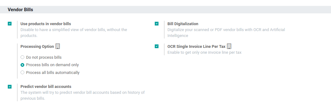 Activate the feature going to the settings application in Odoo Accounting