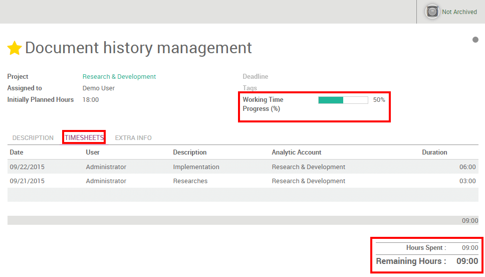 How to plan and track employees assignments Odoo Business 01 – Employee Task List
