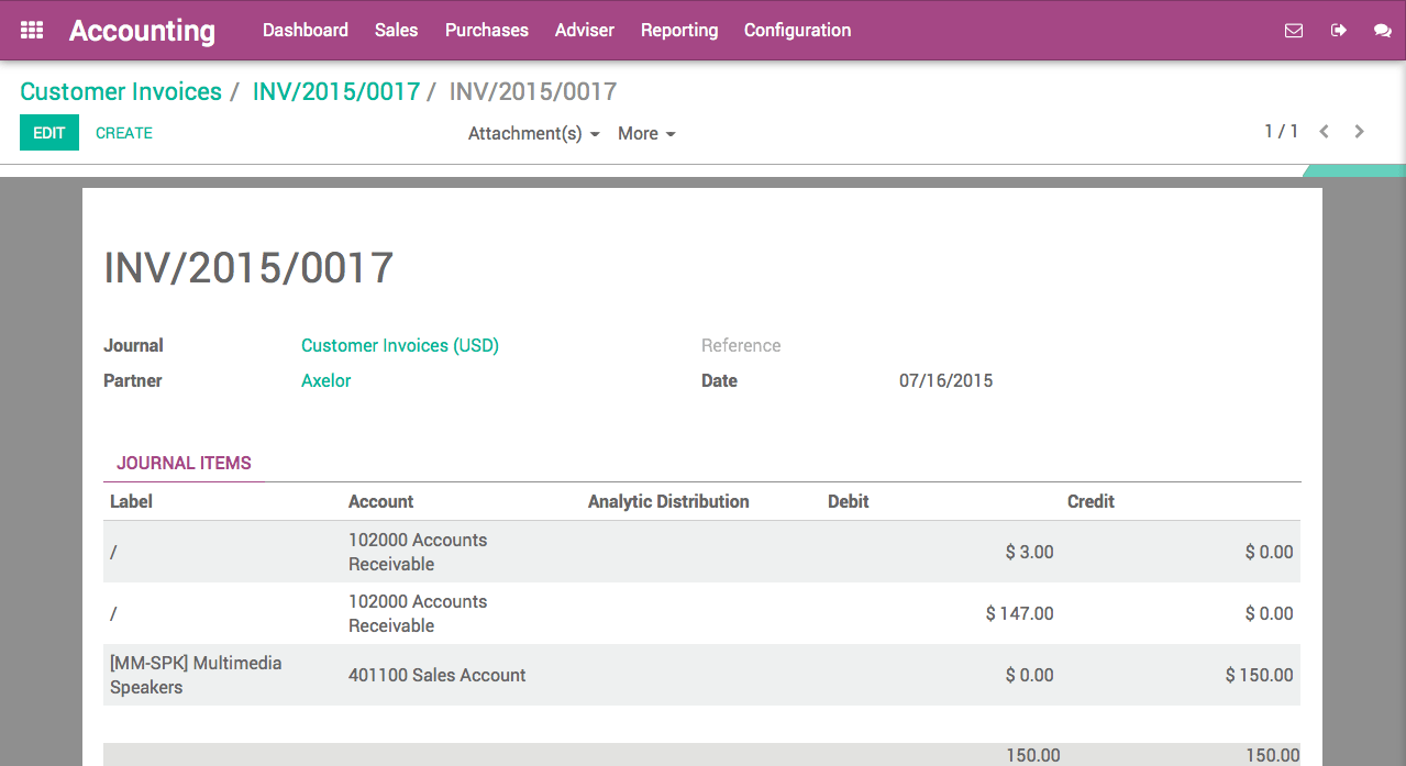 Good Once The Invoice Is Validated, Odoo Will Automatically Split The Account  Receivable Part Of The Journal Entry With Two Installments Having A  Different Due ... Pertaining To How To Set Up An Invoice