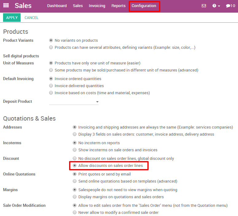 how to create my first quotation odoo 9 0 documentation