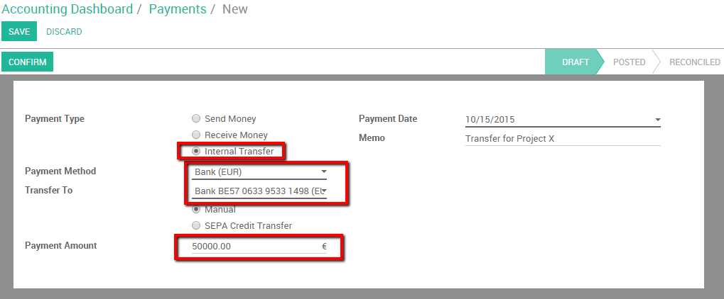 How to do a bank wire transfer from one bank to another? — Odoo 9.0 ...