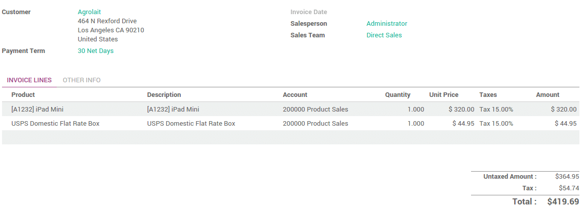 How to invoice the shipping cost to the customer Odoo Business – Invoice Shipping