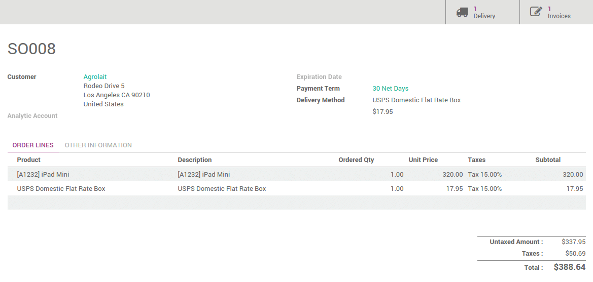 How to invoice the shipping cost to the customer odoo 9 for How to get invoice price