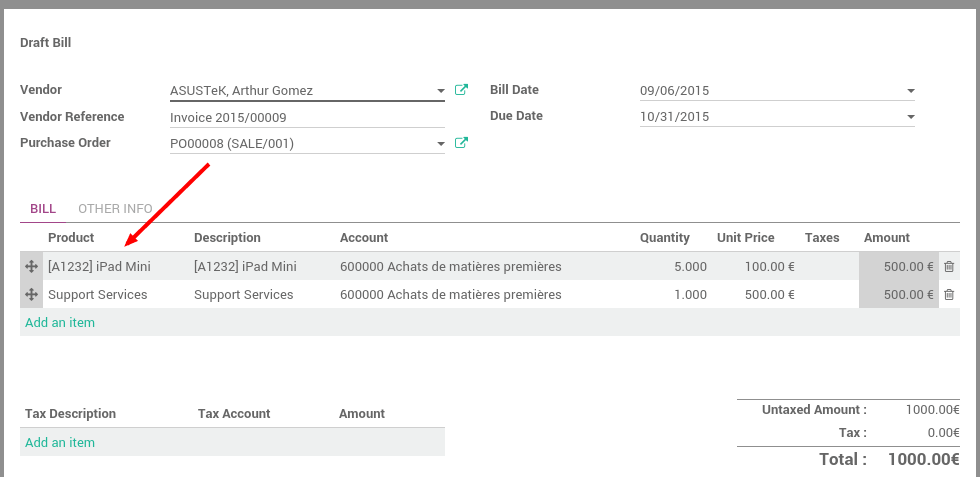 How To Manage Vendor Bills Odoo Documentation - Invoice management meaning