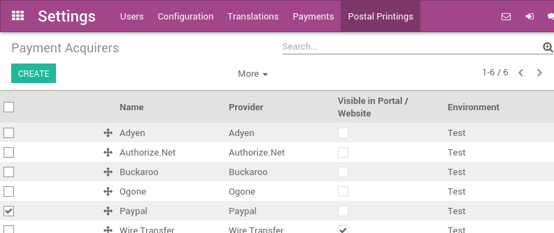 how to accept paypal payments on invoices odoo 9 0 documentation