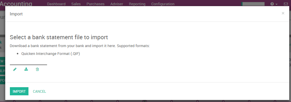 Import QIF statement files — Odoo 9 0 documentation