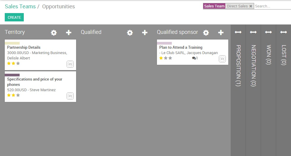 set up and organize your sales pipeline odoo 9 0 documentation