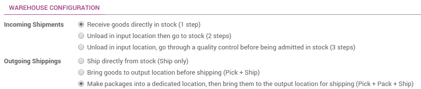 How to process delivery orders in three steps (pick + pack +