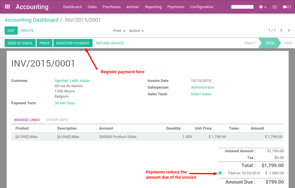 sage line 50 invoice template - cu les son las diferentes formas de registrar un pago