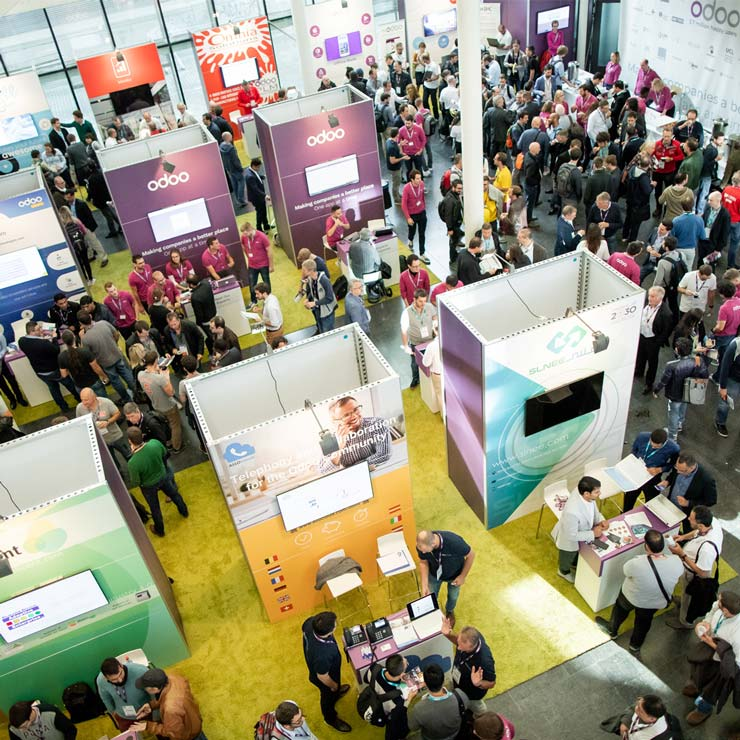 Odoo Experience 2020 - Business Event - ERP Software - Exhibition Hall - Exhibitors