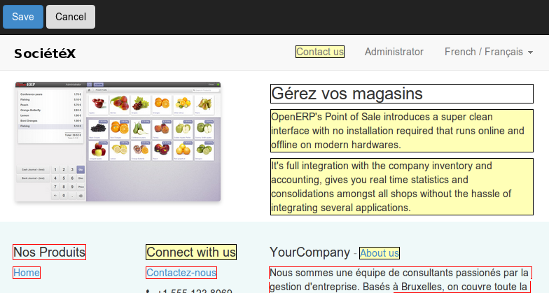 Odoo CMS - Multi language supported